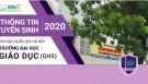 Đề án tuyển sinh năm 2020 của Trường Đại học Giáo dục - ĐHQGHN