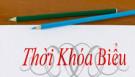 Thời khóa biểu Khối sáng trường THPT Phan Đình Phùng