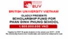 Thông tin và điều kiện nộp học bổng BUV